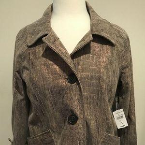 NEW Erin London Women's Beige Blazer Jacket